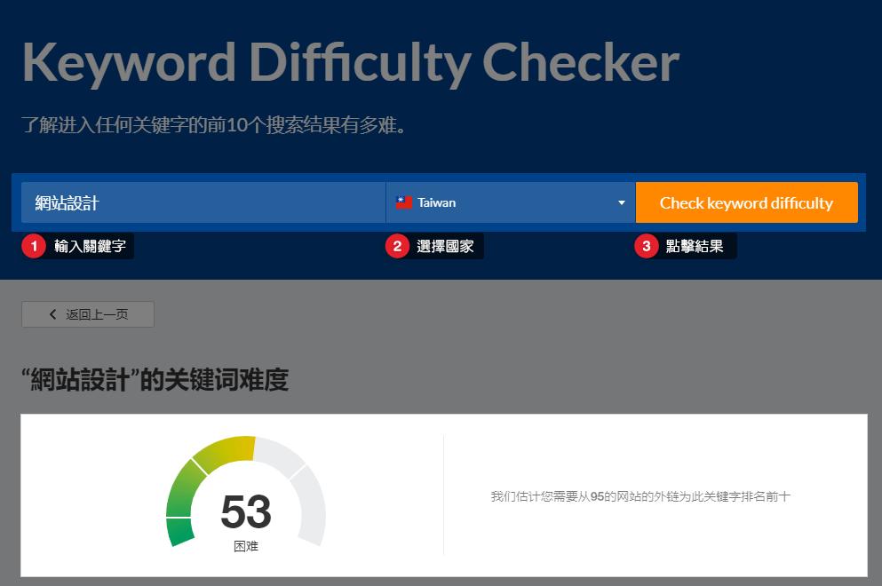 AHREF 關鍵字難度檢測器