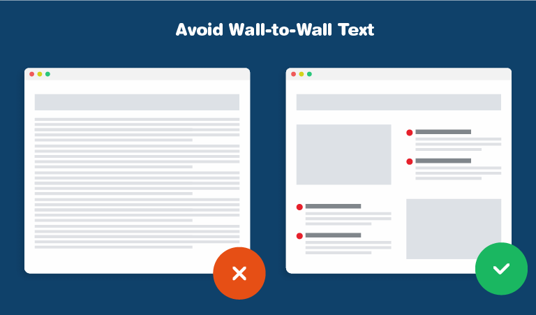 Avoid Wall-to-Wall Text