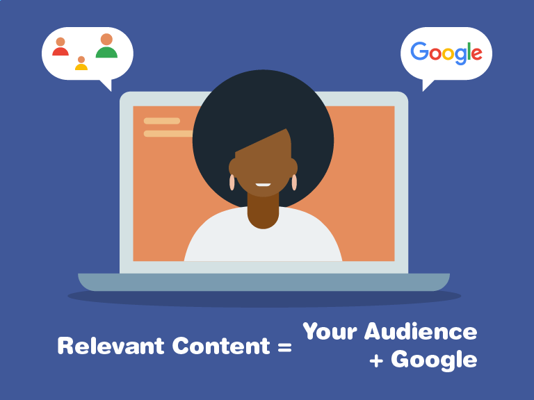 Relevant content meets the needs of your Target audience & Google.