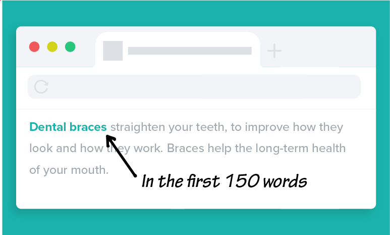 Use your Primary Keyword in the first 150 Words