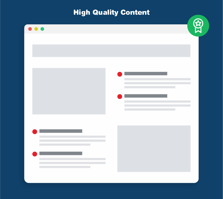 High Quality Content wins in SEO.