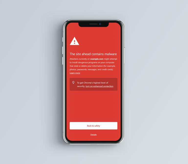 Chrome Malware Warning