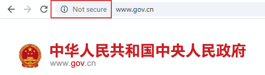 Website that is unencrypted gives not secure warning.