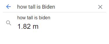 How tall is Biden?