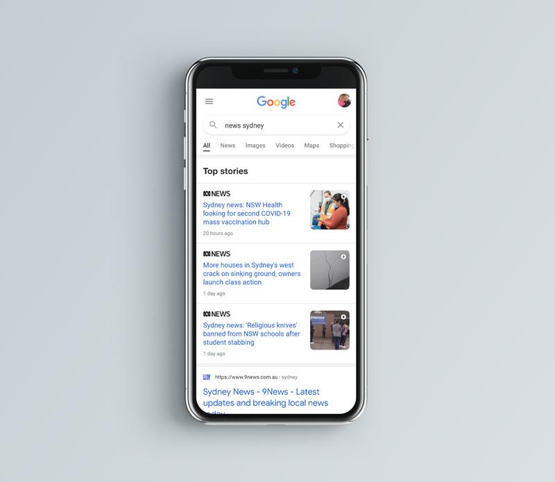 Google Article Schema Results.