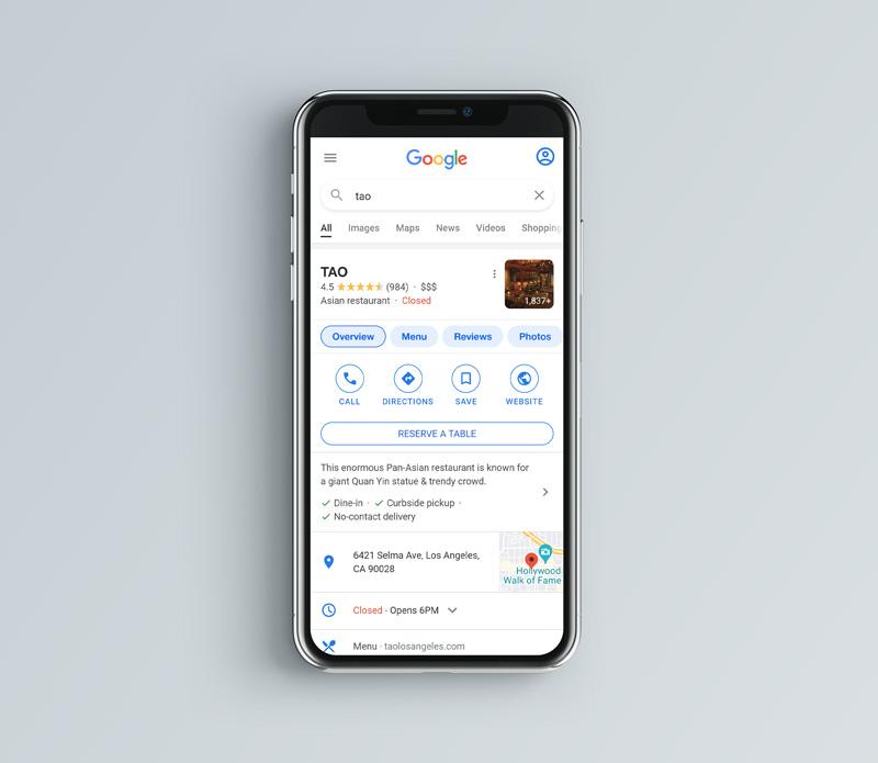 Google Local Business Schema Example