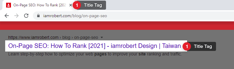 Create a Meta Title Tag