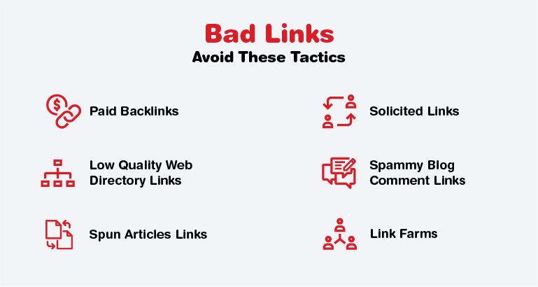 Bad Link Building Tactics