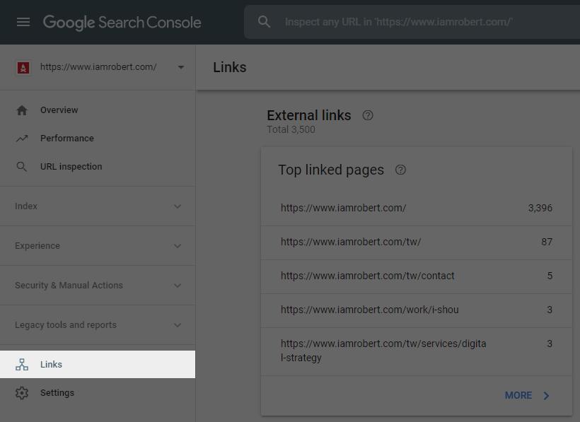 Google Search Console Link Checker