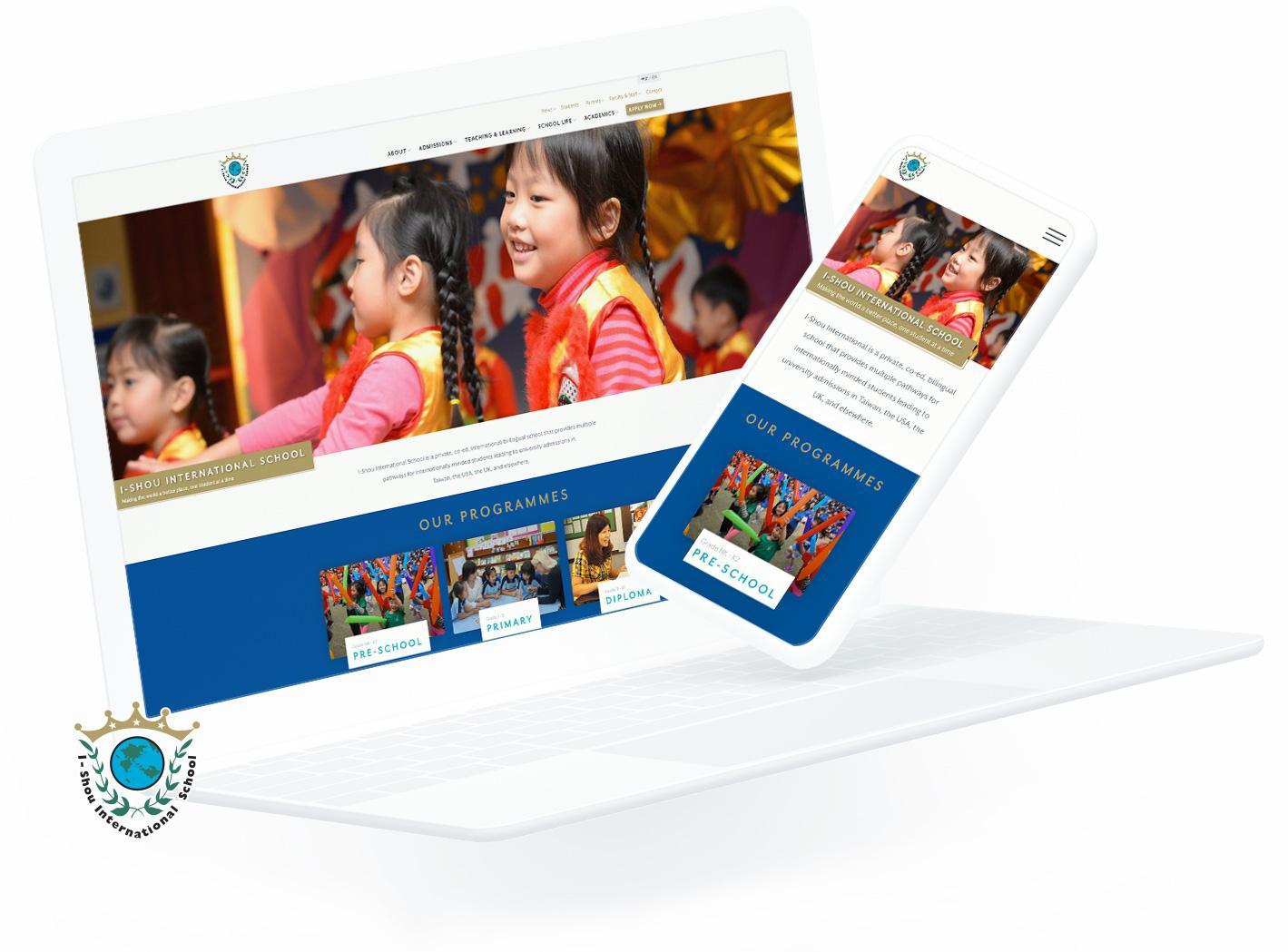 I-Shou Responsive Web Design (RWD)